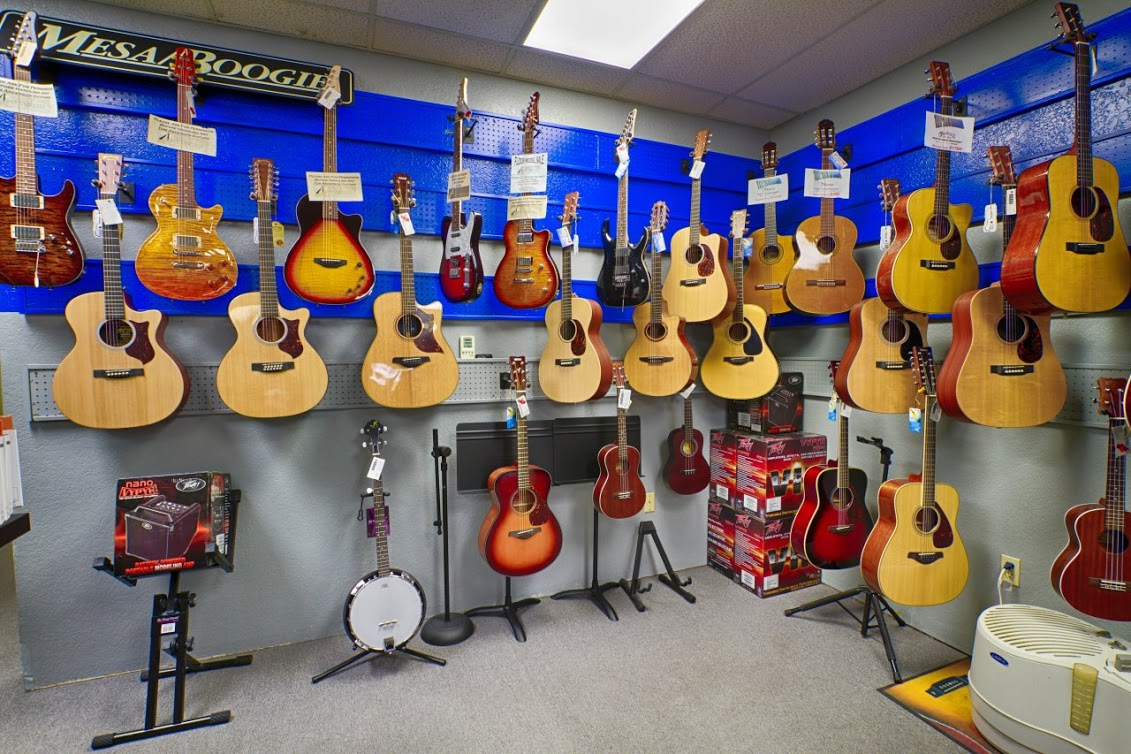 Guitars at The Music Store